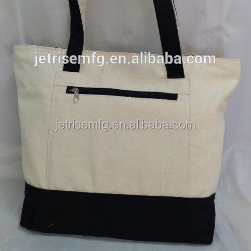 Beach Bag with front zipper pocket.