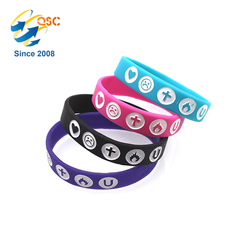 Wholesale popular health sports bracelet printing lovely emoji wholesale silicon bracelet custom