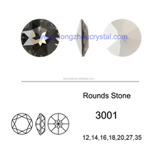 High Quality Loose Stone Beads Crystal Fancy Stone Round Shape
