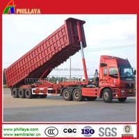 3 axles 60Ton heavy duty transport sand dump truck trailer for sale in dubai