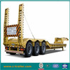 Low Flat Bed Semi Trailers with 3 axles with concave beam