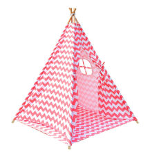 Outdoor pink tent children camping rest teepee tent