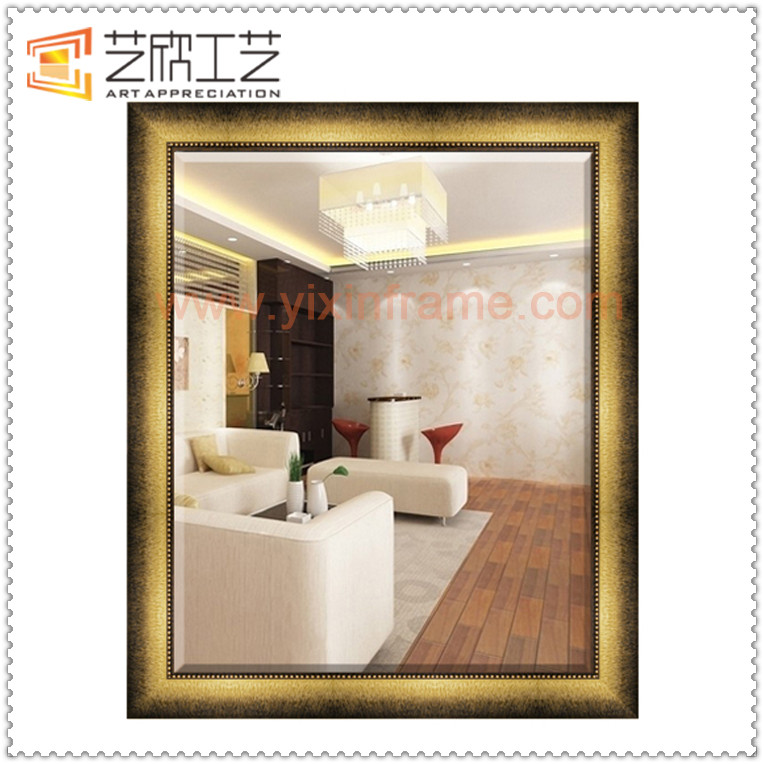 Ornate Plastic Mirror Frames Antique Gold Leaf Frame Wall Mirror