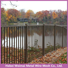 High security galvanized steel tubular fence panel
