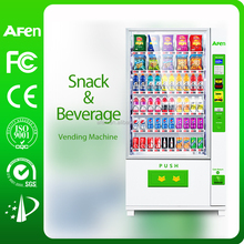 60 selections automatic cold snack and beverage vending machine for sale