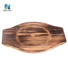 Serving tray wood Steak <strong>plate</strong> Teppanyaki pan wood base Food Serving Tray