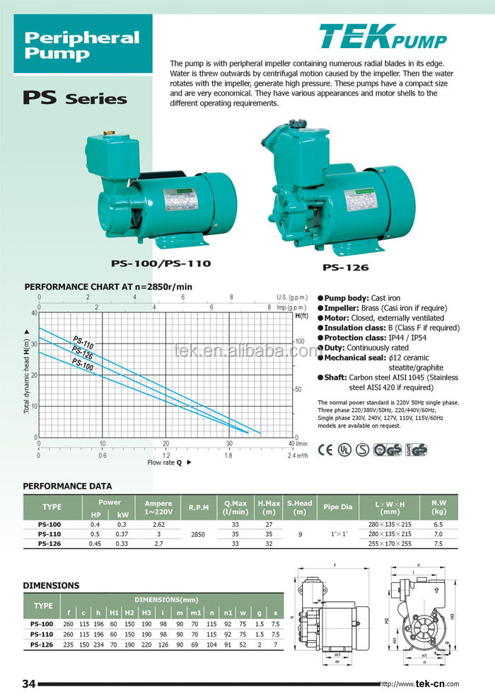 PS-130 Peripheral Pump