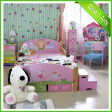 Hot selling MDF princess children bedroom furniture