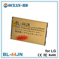 Gold high capacity flat Nimh Polymer Battery BL-44JN for LG Mobile Phone E739 AS680 C660 Pro E400 E510 E510F Victor E739 Battery