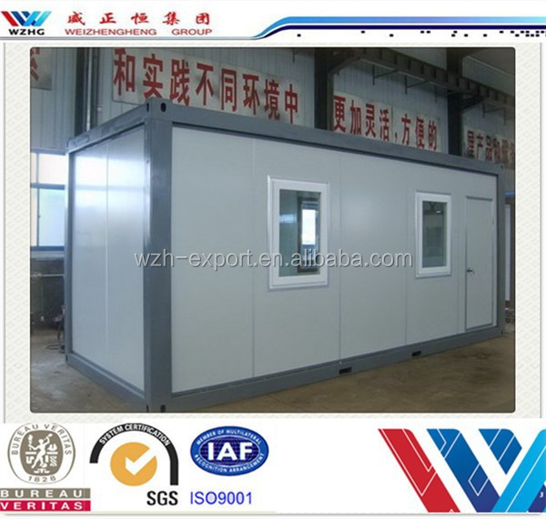 China home designs luxury container house 20ft shipping container houses with shutter