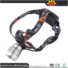 Boruit RJ-2188A T6/ R5 LED headlamp 3 Mode Rechargeable LED Headlamp