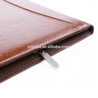 Office PU leather A5 pocket notebook business portfolio leather