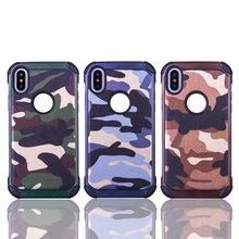 China Market Wholesale Cell Phone Case For iphone 8 Case Hybrid Heavy Duty Rugged Armor Cover OEM / ODM