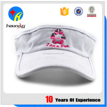 UV Protection Softtextile White Sun Visor Hat, Cap