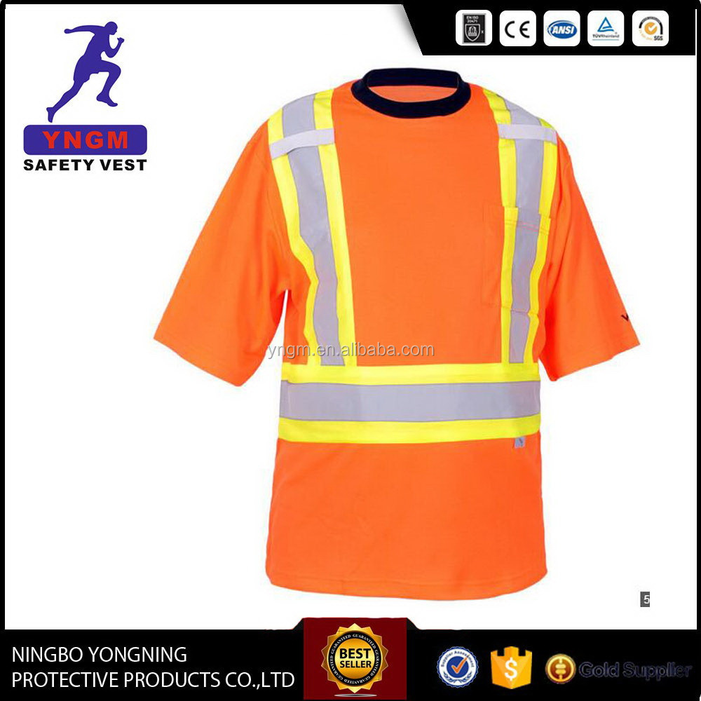 good quality safety t shirts class 2 wholesale with OEM