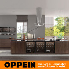 OPPEIN wall simple design cupboard laminate kitchens cabinet