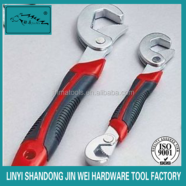 CR-V universal wrench with double color handle cheap spanner as seen on TV