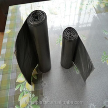 plastic hdpe garbage bag on roll made from raw or recycled material