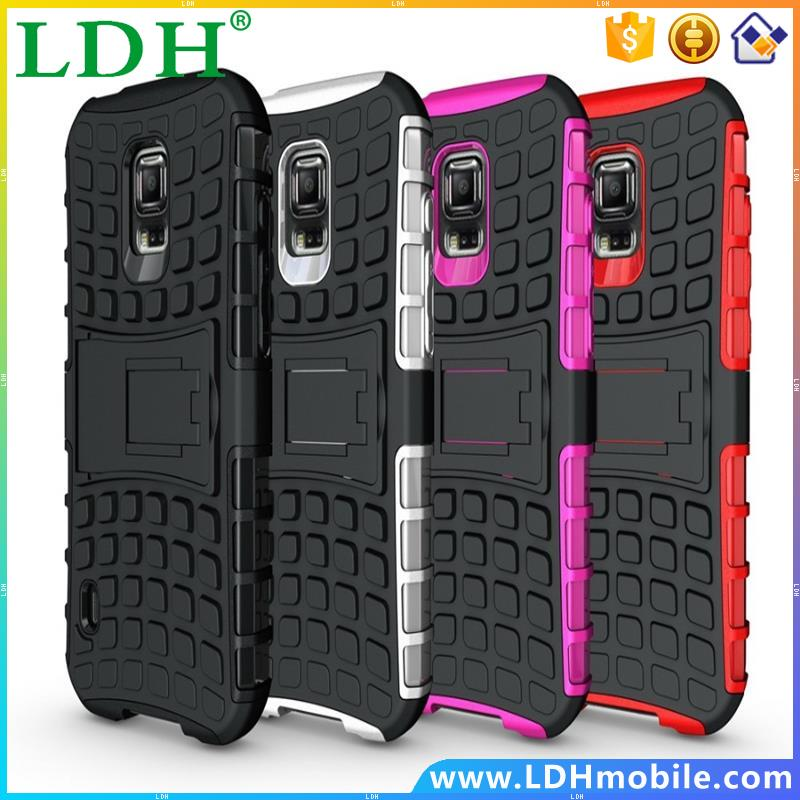 100pcs/lot Heavy Duty Rugged Armor Cell Phone Protection Case For Samsung Galaxy S4 Active I9295 Cover With Kickstand