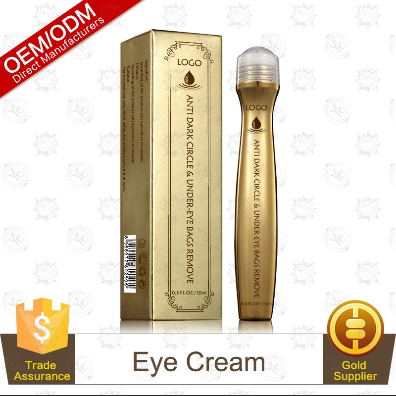 Private Label 24K Gold Anti-Wrinkle Anti-Aging Light Brightening Eye Roll-on 15ml