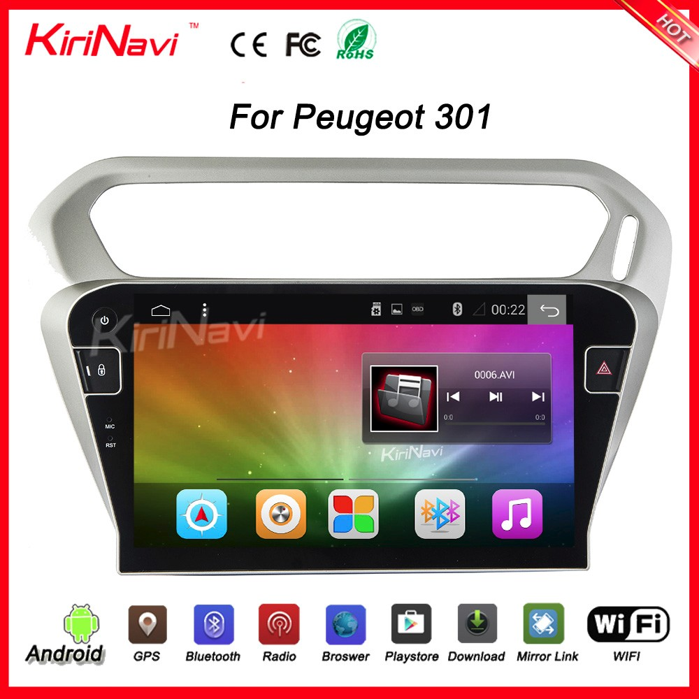 "Kirinavi WC-PC1031 10.2"" andriod 6.0 car radio dvd for peugeot 301 auto radio gps Dashboard Placement"