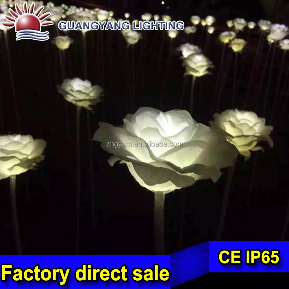 garden decorations colors artificial rose flower for wedding decoration
