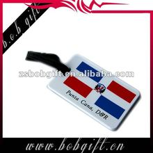 Promotional 2013 new design rubber pvc hang luggage tag