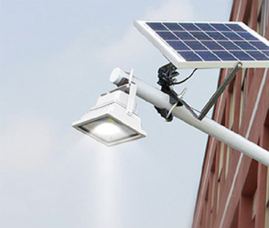 Automatic 5W IP65 outdoor metal casing solar LED floodlight