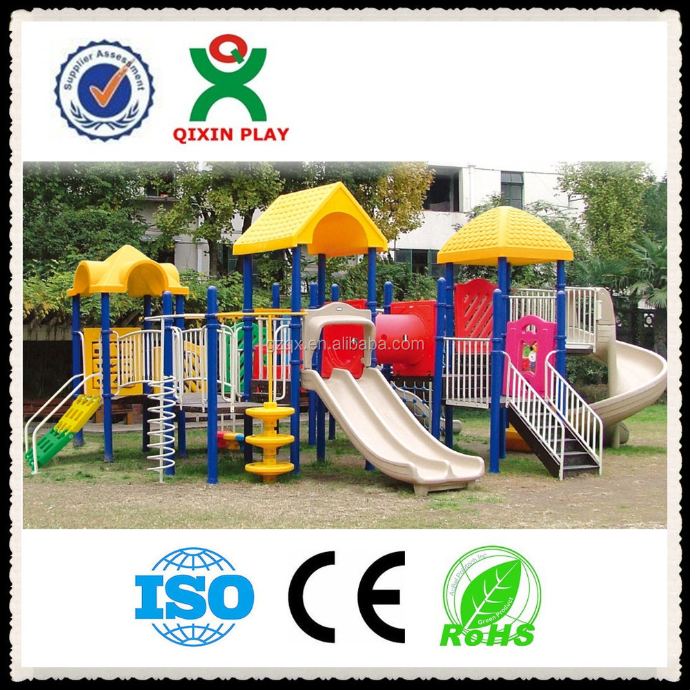 Guangzhou trade assurance combo slide, child slide swing, plastic kid toy slider/QX-060B