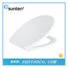 Pure White Closed Front and Gentle Close Oval Shape Toilet Seat Covers