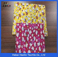canadian printed fleece fabric/air bag fabric stocklot/cotton printed fabric stocklot