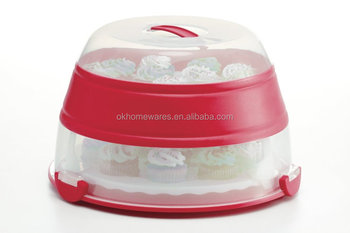 Collapsible Cupcake Carrier Set cake storage box 24pcs cupcake carrier