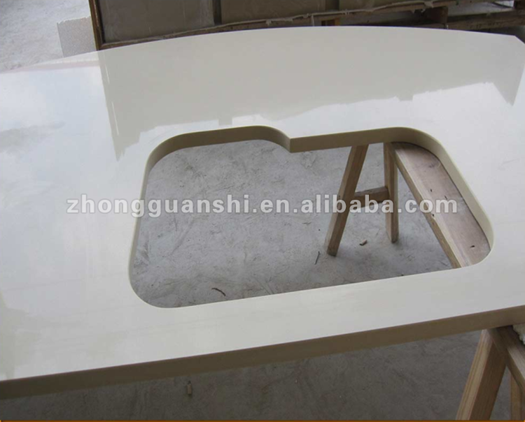 Quality Assurance Beige Quartz Stone Kitchen Countertop