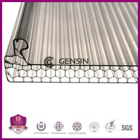 Honeycomb/cellular structure easy installation u-lock polycarbonate sheet for roofing, skylights, awning, carport,