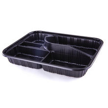 SM3-1104 Wholesale Japanese Eco Friendly 5 compartment Disposable Custom Print Take Away Food Storage Bento Lunch Box Container