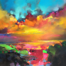 colorful scenery knife sky clouds oil paintings on canvas landscape painting-colour sky picture no frame wall art oil painting