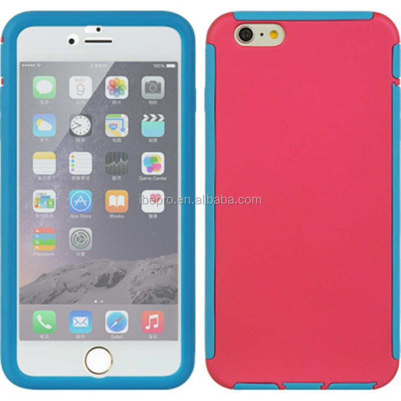 High Quality Hybrid Clear Front Screen Protector Case for iPhone 6 Plus