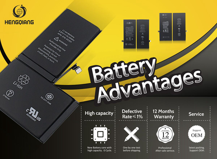New Li-ion Battery Replacement for iPhone X interal Battery - 2716mAh free sample