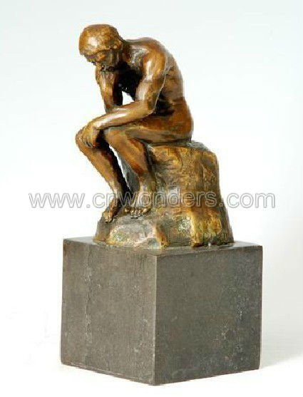 Best selling Rodin's masterpiece -The thinker bronze sculpture