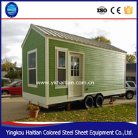 House on wheels tree house wooden movable prefabricated green container homes with wheels tiny house trailer mobile design