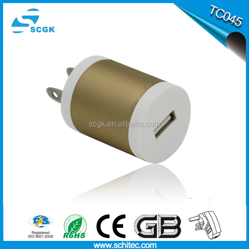 Round shape universal rapid USB travel charger for mobile phone 2015