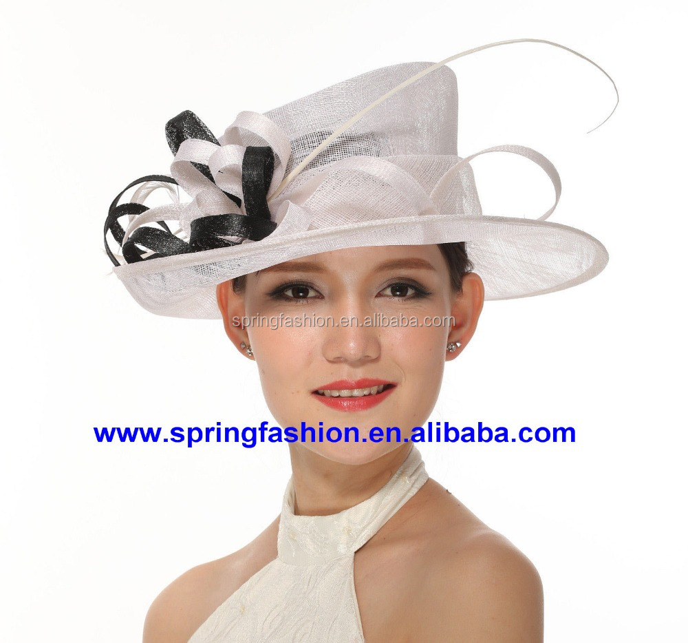 New arrival Kentucky Derby Church Easter Ascot Races Party Day Event sinamay hat