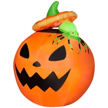 4ft/120cm ourdoor and indoor giant halloween inflatable Airblown Pumpkin with Spider
