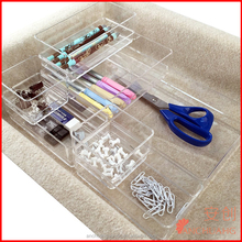 Acrylic home organizer/plastic drawer cabinet 7 Pieces