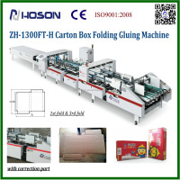ZH-1300FT Cardboard Corrugated Carton Box Making Folding and Gluing Machine