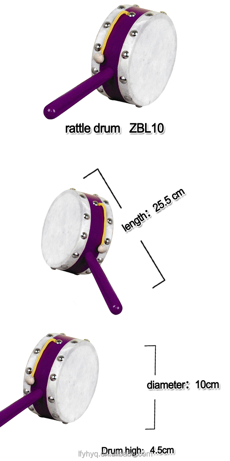 Traditional chinese drums, kids wooden rattle drum