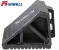 solid rubber wheel chock for truck