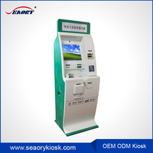 Automatic kiosk with bill payment, the kiosk for hotel hospital and supermarket with laser printer