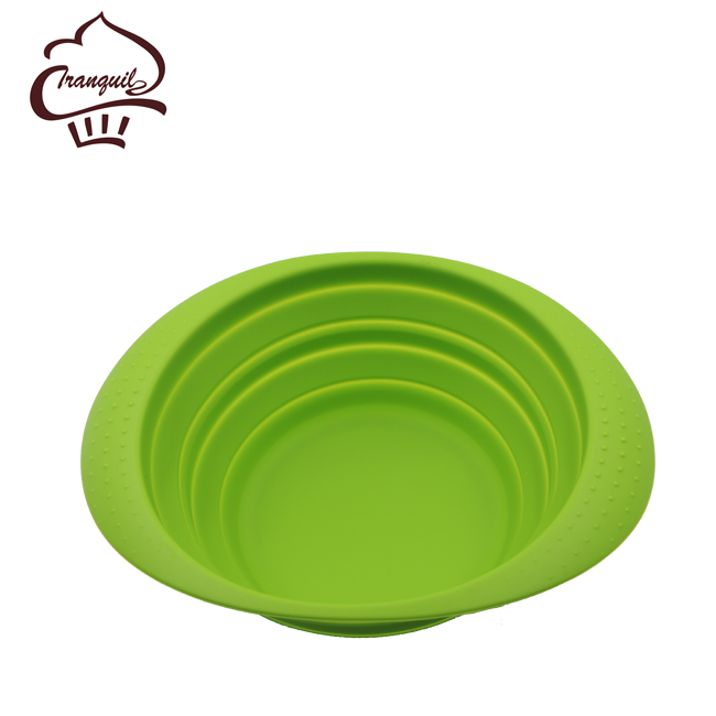 2017 New product fashionable microwave safe silicone collapsible bowls with competitive price