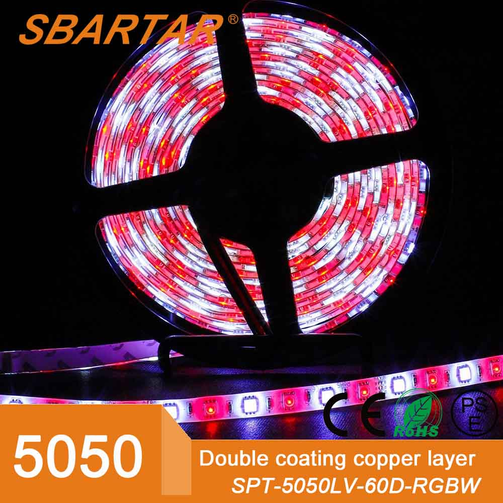 5M 5050 SMD RGB and Cool White Mixed Color Changing Flexible LED Strip Light